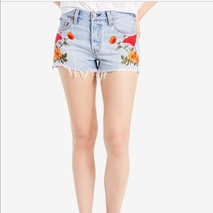 NWT levi's embroidered shorts